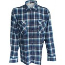Flaneloverhemd ruit navy/lightblue dessin 2- M